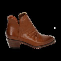 Ankle boots cuoio, tacco 4,50 cm, Primadonna, 150693110EPCUOI036, 001 preview