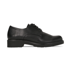Stringate nere in eco-pelle, Scarpe, 140801201EPNERO036, 001 preview