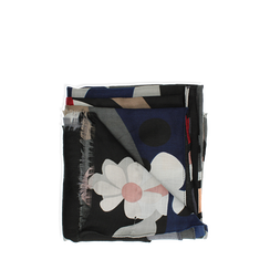 Pashmina grigia in tessuto con stampa Seventies, Abbigliamento, 14B491016TSGRIG3XL, 001a