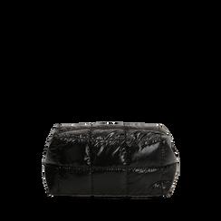 Trousse duvet nera in tessuto, IDEE REGALO, 165122984TSNEROUNI, 001a