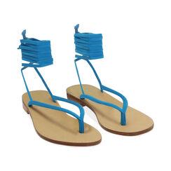 Sandales à lacets en lycra turquoise, Primadonna, 174982380LYTURC035, 002 preview