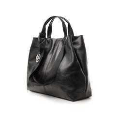 Maxi-bag nera in laminato, Borse, 132384211LMNEROUNI, 004 preview