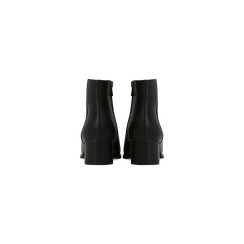 Tronchetti neri con zip, tacco medio 4,5 cm, Primadonna, 122752721EPNERO, 003 preview