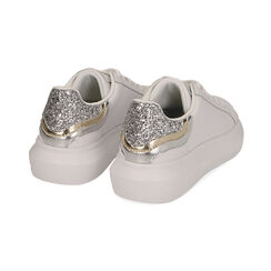 Sneakers bianco/argento, Scarpe, 172602011EPBIAR035, 004 preview