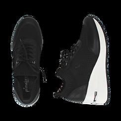 Sneakers nere in tessuto, Primadonna, 157516567TSNERO037, 003 preview