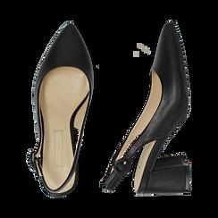 Escarpins en simili-cuir noir, talon 6,5 cm , Chaussures, 152123920EPNERO037, 003 preview