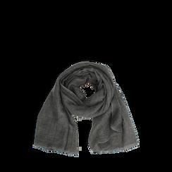 Pashmina grigia in tessuto , Abbigliamento, 14B404026TSGRIG3XL, 002a