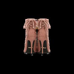 Tronchetti nude con coulisse, tacco stiletto 11,5 cm, Scarpe, 122116005MFNUDE, 003 preview