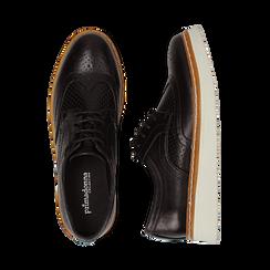 Stringate flatform nere in eco-pelle, Scarpe, 133009503EPNERO036, 003 preview