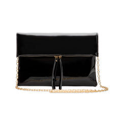 Pochette bustina nera in ecopelle vernice, Primadonna, 123308136VENEROUNI, 003 preview