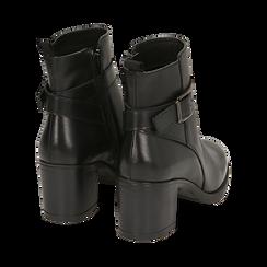Ankle boots neri in pelle di vitello, tacco 6,50 cm , Primadonna, 16D808225VINERO038, 004 preview