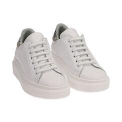 Sneakers bianco/nero in pelle, Primadonna, 17L600103PEBINE035, 002 preview