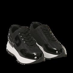 Sneakers nere glitter, suola 5,50 cm , Scarpe, 142898982GLNERO035, 002a