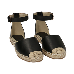 WOMEN SHOES ESPADRILLAS ECO-LEATHER NERO, Chaussures, 154905188EPNERO036, 002 preview