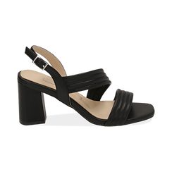 WOMEN SHOES SANDAL ECO-LEATHER NERO, PROMOTIONS, 152117607EPNERO036, 001 preview
