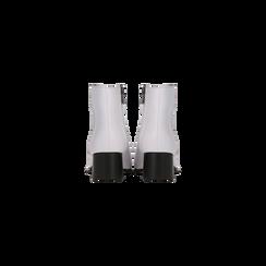 Tronchetti bianchi con zip, tacco medio 4,5 cm, Primadonna, 122752721EPBIAN036, 003 preview