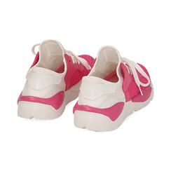 Dad shoes en tejido tecnico color fuxia, Zapatos, 15F609059TSFUCS036, 004 preview