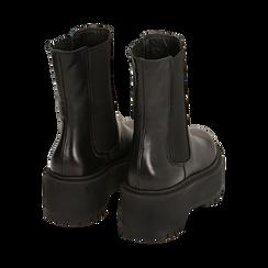 Chelsea boots neri in pelle di vitello, suola 6 cm , Primadonna, 168900202VINERO036, 004 preview