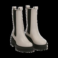 Chelsea boots bianchi in pelle di vitello , Primadonna, 168915835VIPANN035, 002a
