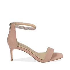 WOMEN SHOES SANDAL MICROFIBER NUDE, Chaussures, 152182331MFNUDE037, 001a