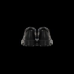 Francesine stringate nere, tacco basso casual, Scarpe, 122808656EPNERO, 003 preview