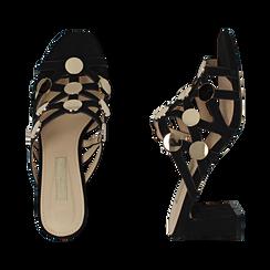 WOMEN SHOES SLIPPER MICROFIBER NERO, Zapatos, 154821212MFNERO036, 003 preview
