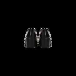 Francesine stringate nero tacco quadrato, suola alta, Scarpe, 122808602ABNERO, 003 preview