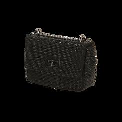Borsa gioiello nera in microfibra, GIFT IDEAS, 165122995MPNEROUNI, 002 preview