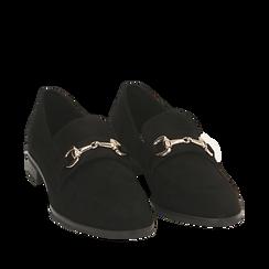 Mocasines de microfibra en color negro, Primadonna, 164964141MFNERO036, 002a