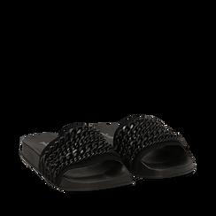 Zeppe nere in pvc con catene, Primadonna, 112028208EPNERO035, 002a