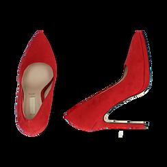 Décolleté rosse in microfibra con plateau, tacco 12 cm , Primadonna, 162106051MFROSS036, 003 preview