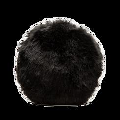 Tracollina nera in eco-pelliccia, Saldi, 12B412001FUNEROUNI, 002 preview