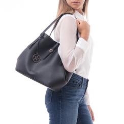 Maxi-bag nera in eco-pelle, Borse, 145786775EPNEROUNI, 002 preview