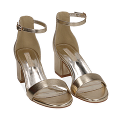 WOMEN SHOES SANDAL LAMINATED OROG, Chaussures, 152707031LMOROG035, 002a