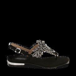 WOMEN SHOES FLAT MICROFIBER NERO, Chaussures, 154997015MFNERO036, 001a