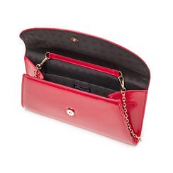 Pochette rossa in vernice, Borse, 145122502VEROSSUNI, 004 preview