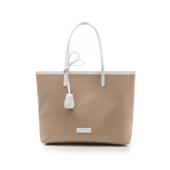 Maxi bag beige/bianca in eco-pelle, Primadonna, 133764106EPBEBIUNI, 001 preview