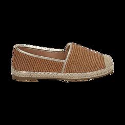 Espadrillas cuoio in rafia, Zapatos, 154902099RFCUOI036, 001 preview
