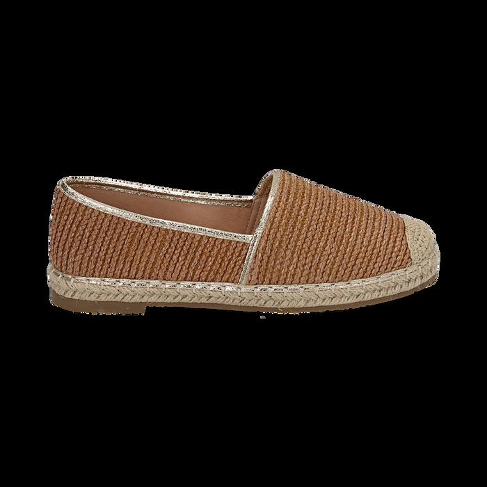 Espadrillas cuoio in rafia, Zapatos, 154902099RFCUOI036