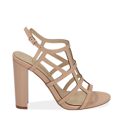 WOMEN SHOES SANDAL EP-PATENT NUDE, Chaussures, 152123413VENUDE036, 001a