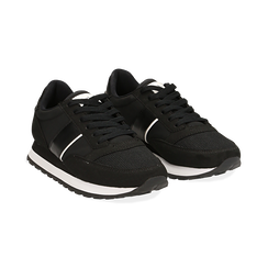 Sneakers nere in tessuto tecnico , Scarpe, 142619079TSNERO036, 002 preview