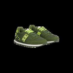 Sneakers verdi color block, Scarpe, 122618834MFVERD, 002 preview