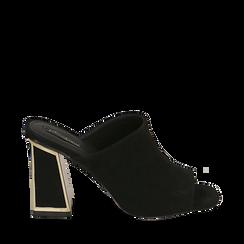 WOMEN SHOES SLIPPER MICROFIBER NERO, Zapatos, 154953062MFNERO036, 001a