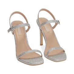 Sandales à paillettes argentées, talon de 10,5 cm, Primadonna, 172793510GLARGE035, 002 preview