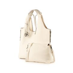 Shopper blanc en simili-cuir, Sacs, 155702557EPBIANUNI, 004 preview