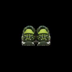 Sneakers verdi color block, Scarpe, 122618834MFVERD, 003 preview