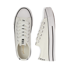 Sneakers bianche in canvas, Scarpe, 137300862CABIAN036, 003 preview