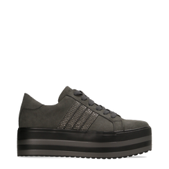 Sneakers grigie suola platform multistrato, Scarpe, 122818575MFGRIG, 001a