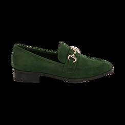 Mocasines de microfibra en color verde, Zapatos, 164964141MFVERD035, 001 preview