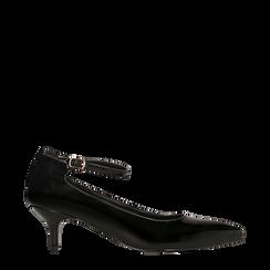 Décolleté nere kitten heels in vernice, tacco 3 cm, Primadonna, 124951721VENERO035, 001a